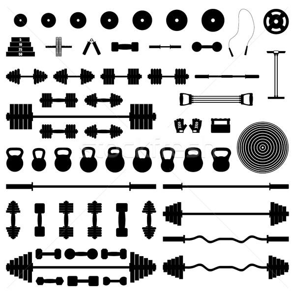 A set of sports equipment, vector illustration. Stock photo © kup1984