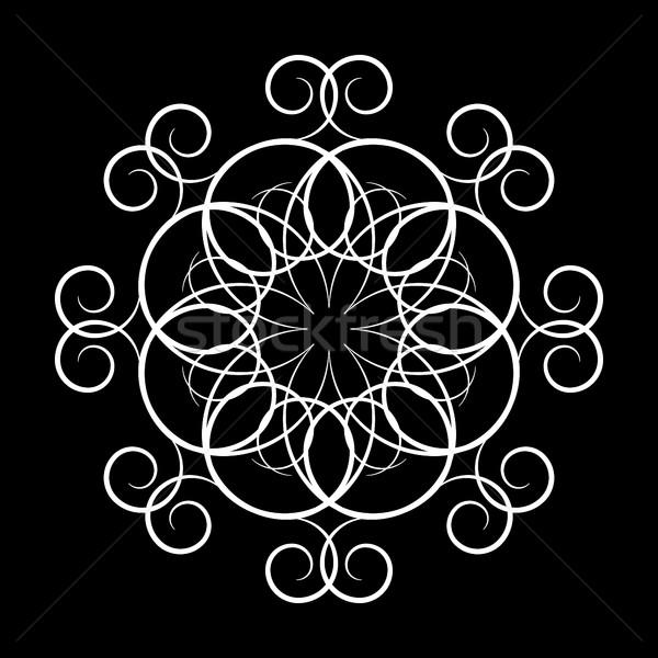 A circular ornament, vector illustration. Stock photo © kup1984