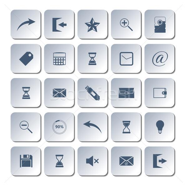 Conjunto os ícones do web universal projeto calculadora seta Foto stock © kup1984