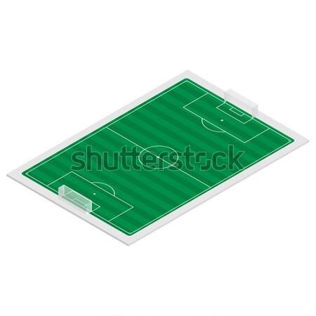 Dziedzinie grać piłka nożna izometryczny odizolowany biały Zdjęcia stock © kup1984
