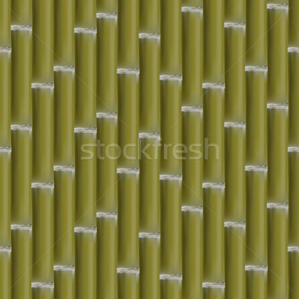 Zdjęcia stock: Bezszwowy · bambusa · tekstury · zestaw · zielone · trawy