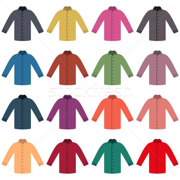 Set of colored shirts, vector illustration. Stock photo © kup1984