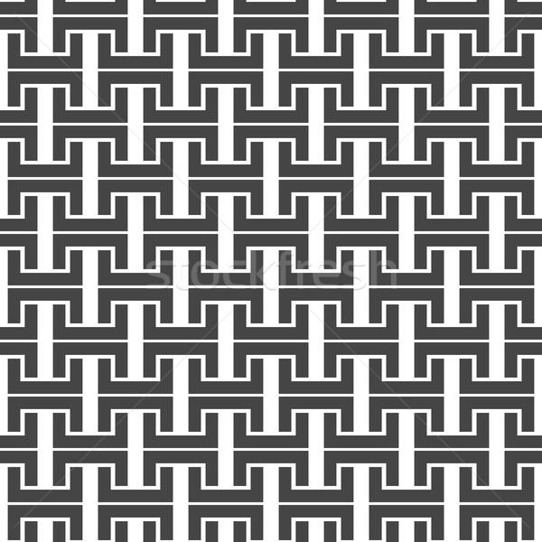черно белые бесшовный аннотация текстуры дизайна Сток-фото © kup1984