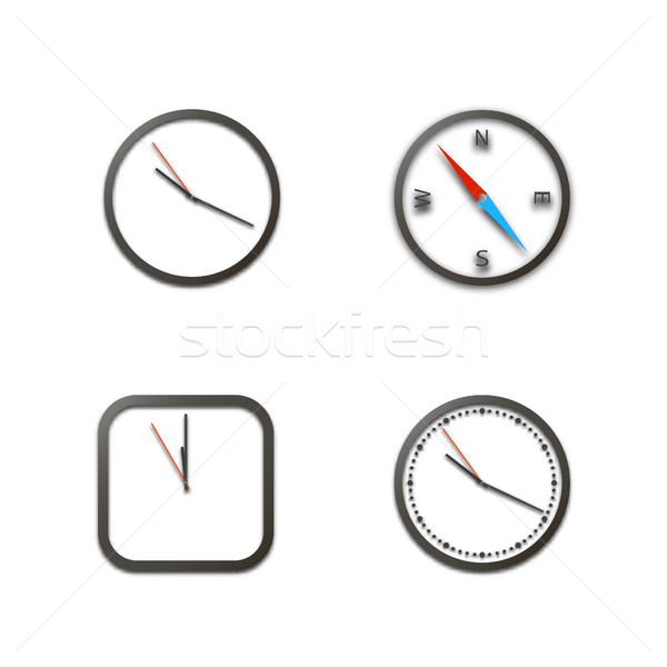 Realistic icons clock, vector illustration. Stock photo © kup1984
