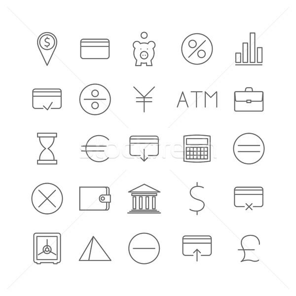 Finance icons, vector illustration. Stock photo © kup1984