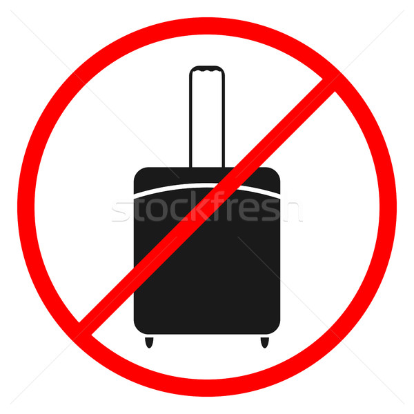 Icono prohibir equipaje negro iconos blanco Foto stock © kup1984