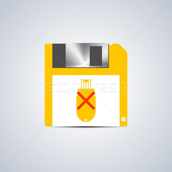 Icon write error, vector illustration. Stock photo © kup1984