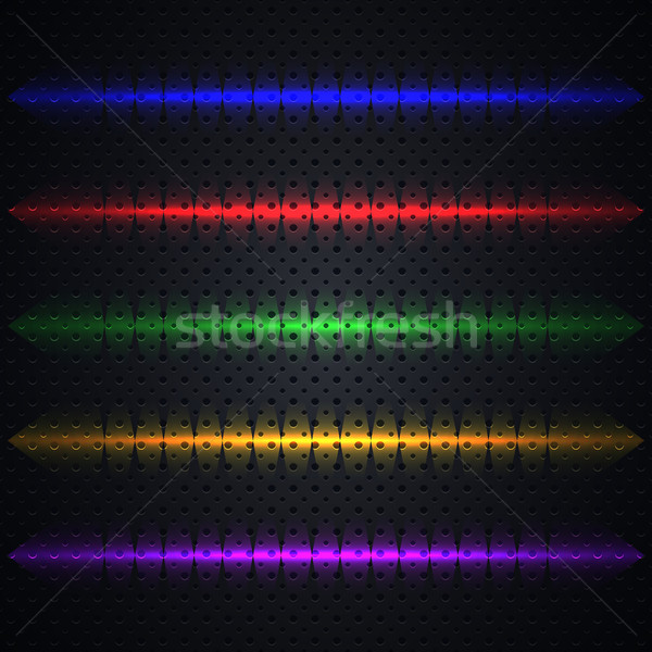 Bright light effects, vector illustration. Stock photo © kup1984
