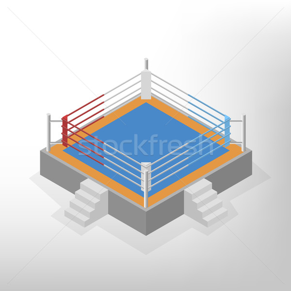 Boxing ring is an isometric, vector illustration. Stock photo © kup1984