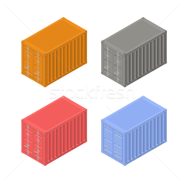 Colorful shipping containers in an isometric view, vector illustration. Stock photo © kup1984