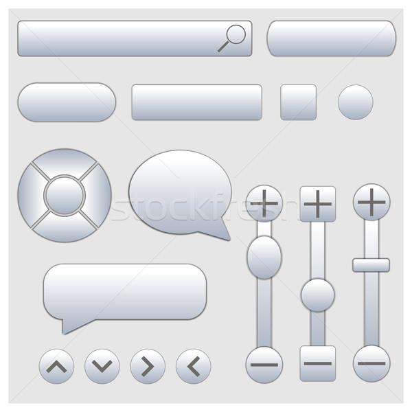 Set of web elements, vector illustration. Stock photo © kup1984
