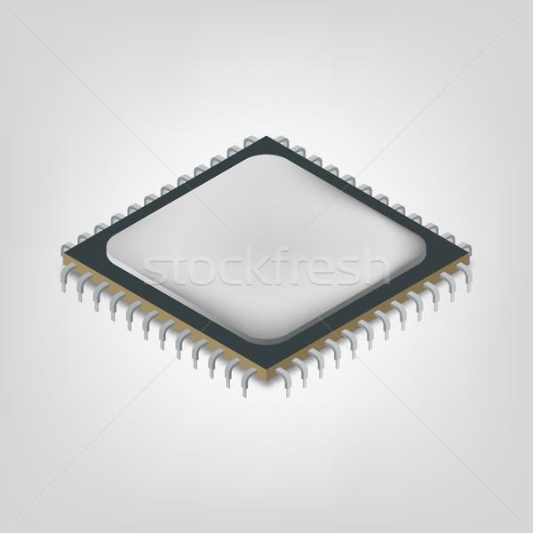 Merkezi birim izometrik görmek yalıtılmış beyaz Stok fotoğraf © kup1984