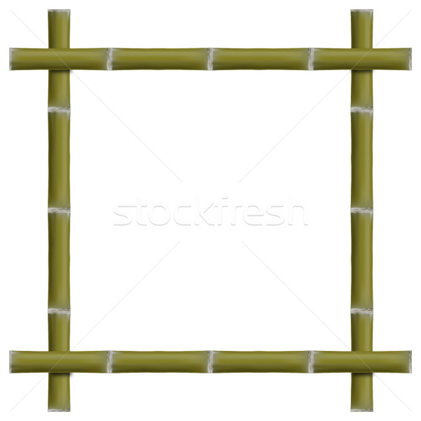 Empty frame of bamboo stalks, vector illustration. Stock photo © kup1984