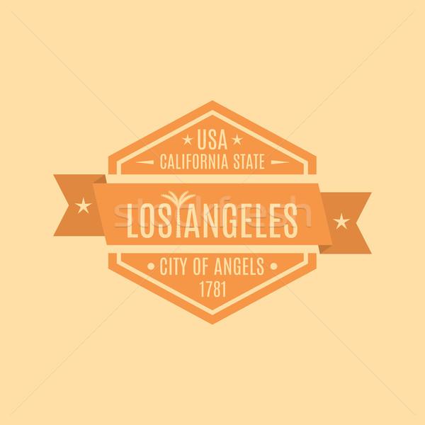 Embléma szöveg város Los Angeles retró stílus izolált Stock fotó © kup1984