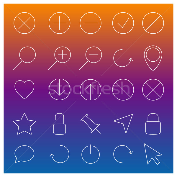 Set of linear Web icons, vector illustration. Stock photo © kup1984