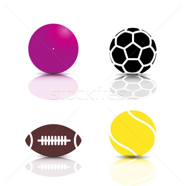 Establecer deportes juego iconos Foto stock © kup1984