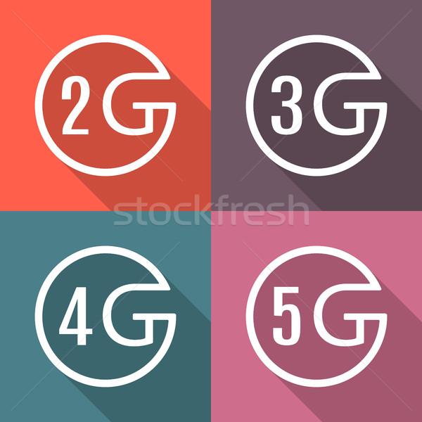 иконки различный мобильных связи долго Сток-фото © kup1984
