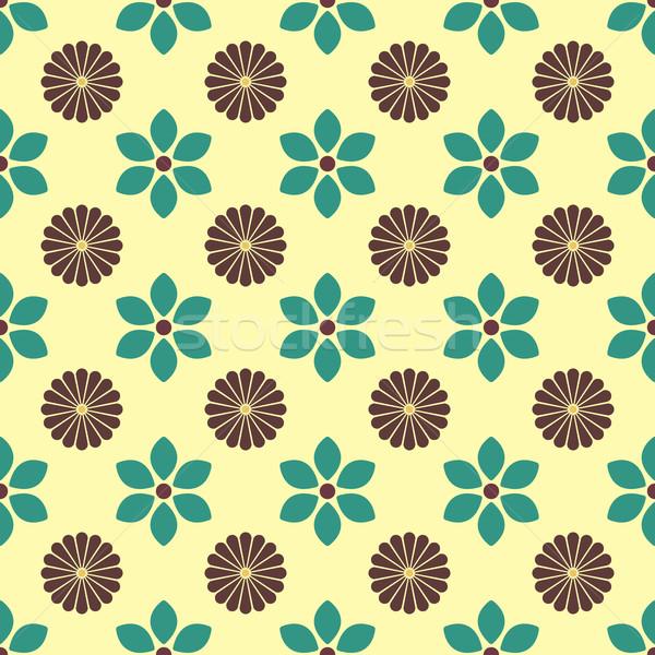 цветочный бесшовный различный бутон цветок Сток-фото © kup1984