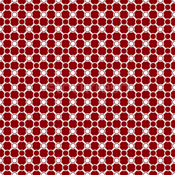 красный белый геометрический плитки Сток-фото © kup1984