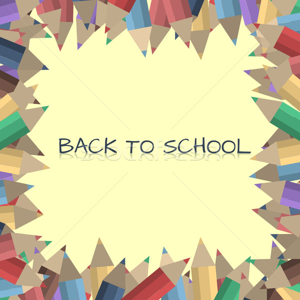 Frame matite testo colore istruzione Foto d'archivio © kup1984