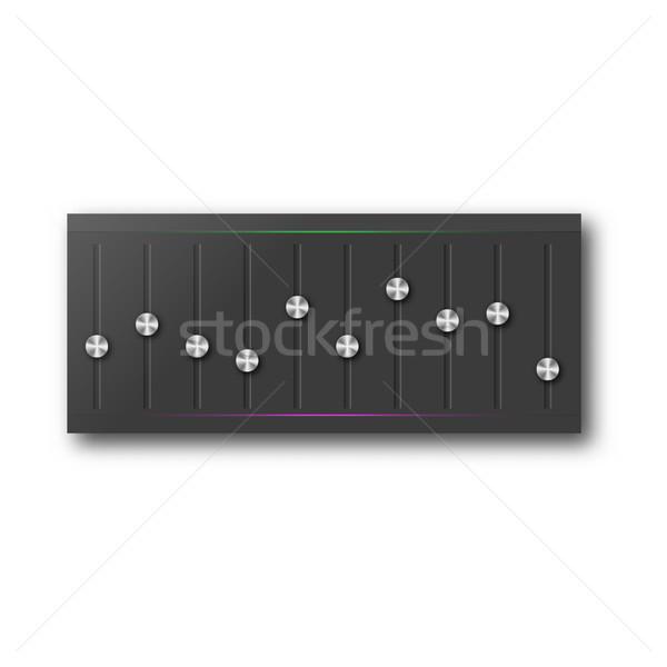 графических эквалайзер набор стали Кнопки Сток-фото © kup1984