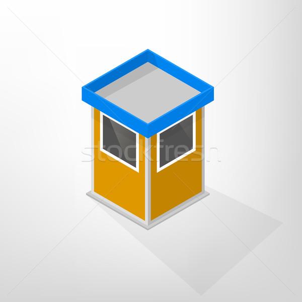Security lodges isometric vector illustration. Stock photo © kup1984