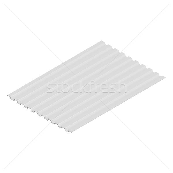 シート 鋼 プロファイル アイソメトリック 孤立した 白 ストックフォト © kup1984