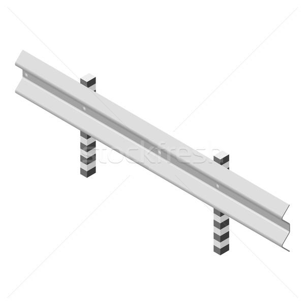 Metal estrada cerca isométrica aço isolado Foto stock © kup1984