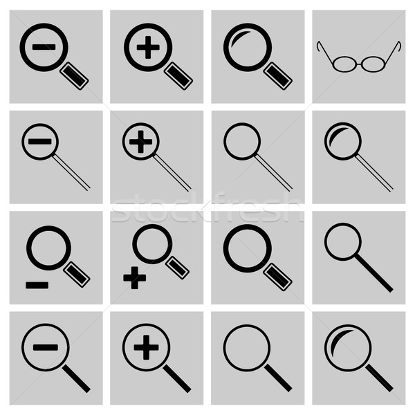 Icons search and scaling, vector illustration. Stock photo © kup1984