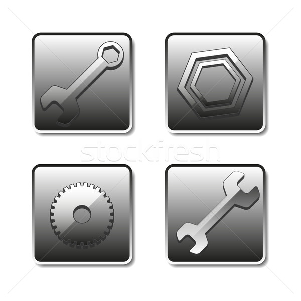 Icons setting, vector illustration. Stock photo © kup1984