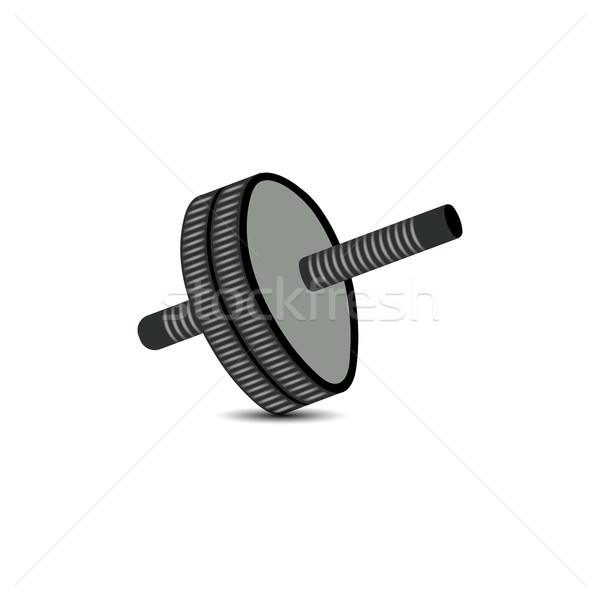 Roller for abdomen, vector illustration. Stock photo © kup1984