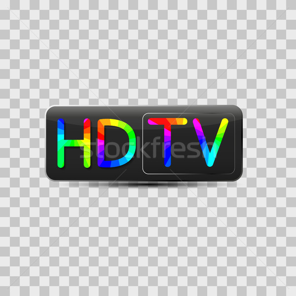 High-definition video sign, vector illustration. Stock photo © kup1984