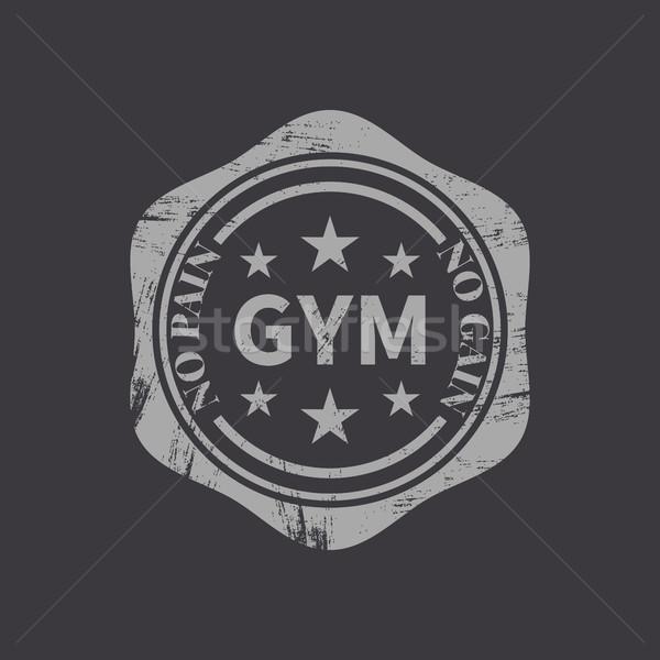 スポーツ ロゴ グランジ エンブレム ラベル フィットネス ストックフォト © kup1984