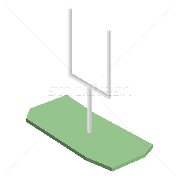 Gate for playing american football in isometric, vector illustration. Stock photo © kup1984