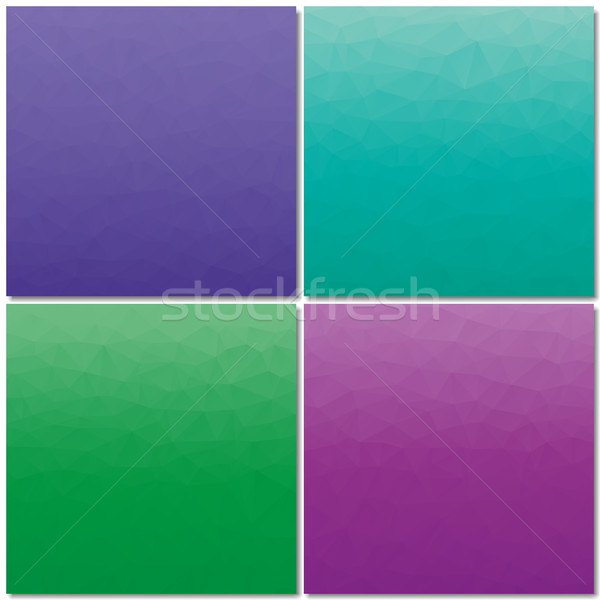 Set polygonal backgrounds, vector illustration. Stock photo © kup1984