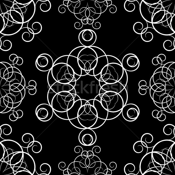 Seamless background with ornaments, vector  Stock photo © kup1984
