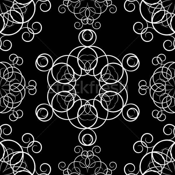 Végtelenített díszek vektor szett körkörös terv Stock fotó © kup1984