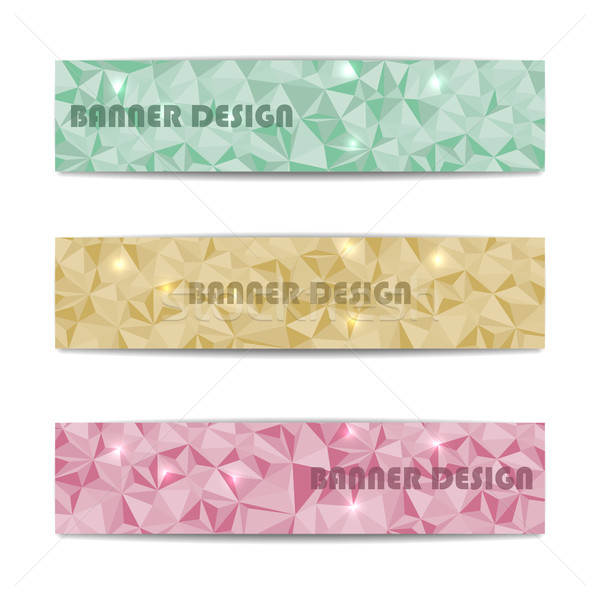 A set of web banners, vector illustration. Stock photo © kup1984