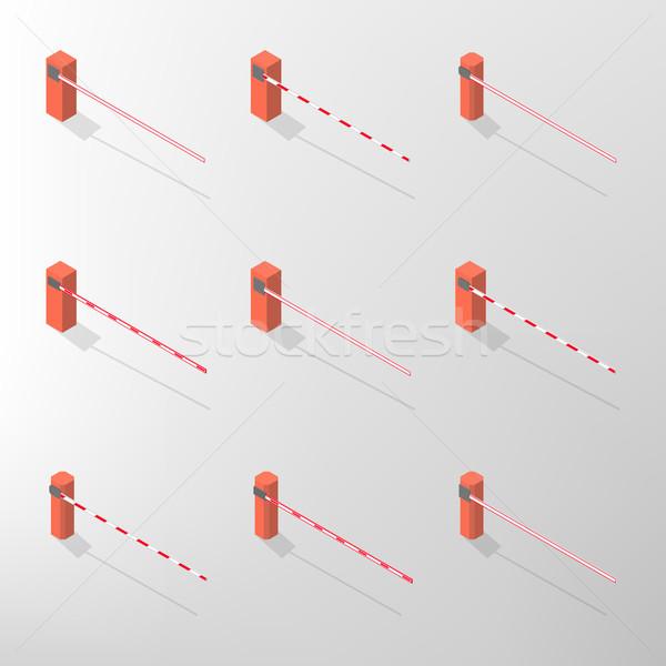 Barrier isometric, vector illustration. Stock photo © kup1984