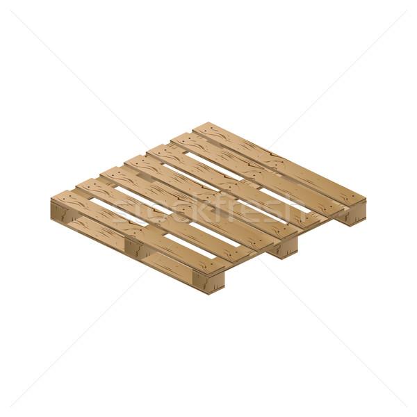 木製 アイソメトリック 現実的な パレット 孤立した 白 ストックフォト © kup1984