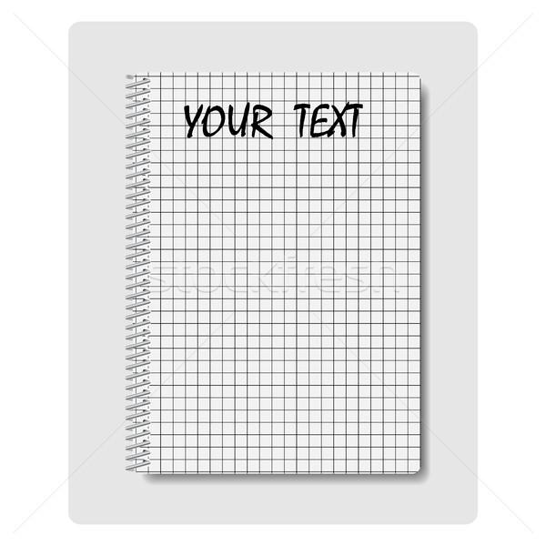 Notepad, vector illustration. Stock photo © kup1984