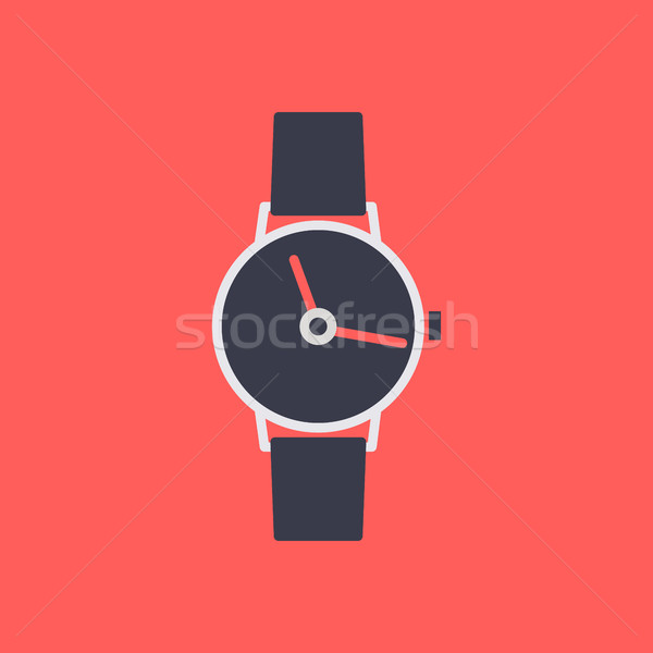 Icon wrist watch, vector illustration. Stock photo © kup1984