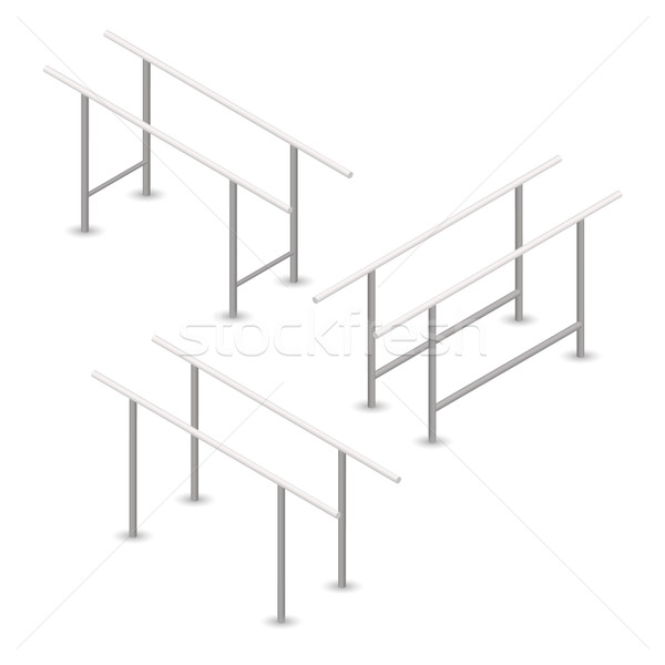 Pull-up bar in 3D, vector illustration. Stock photo © kup1984