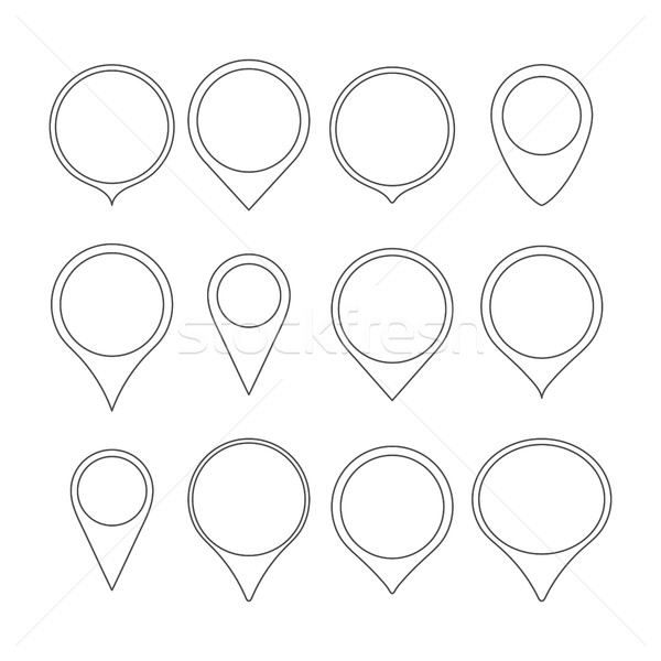 Set pointers maps, vector illustration. Stock photo © kup1984