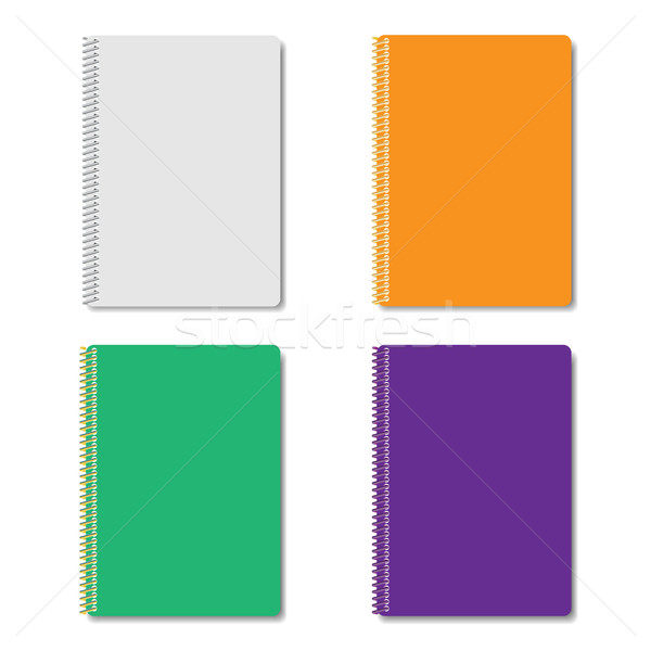 Set of multicolored notepads, vector illustration. Stock photo © kup1984