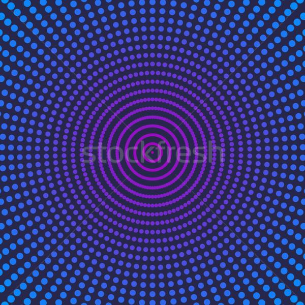 Brilhante abstrato azul roxo meio-tom efeito Foto stock © kup1984