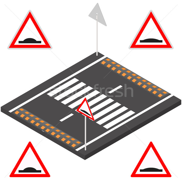 Speed bump in 3D, vector illustration. Stock photo © kup1984