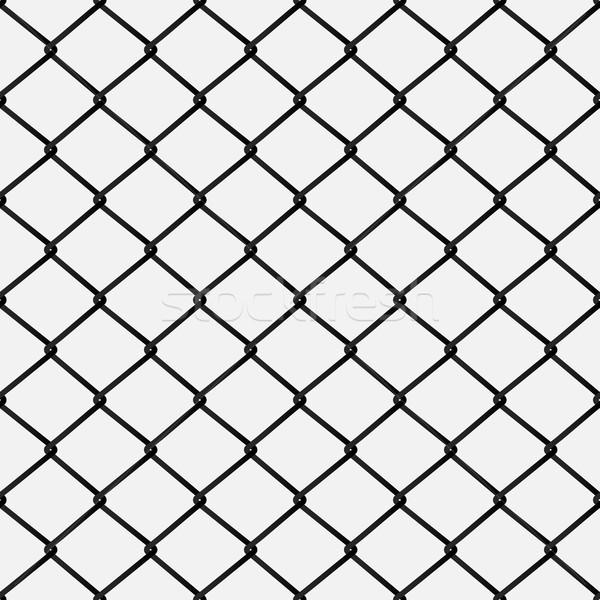Sin costura metal alambre cerca aislado Foto stock © kup1984