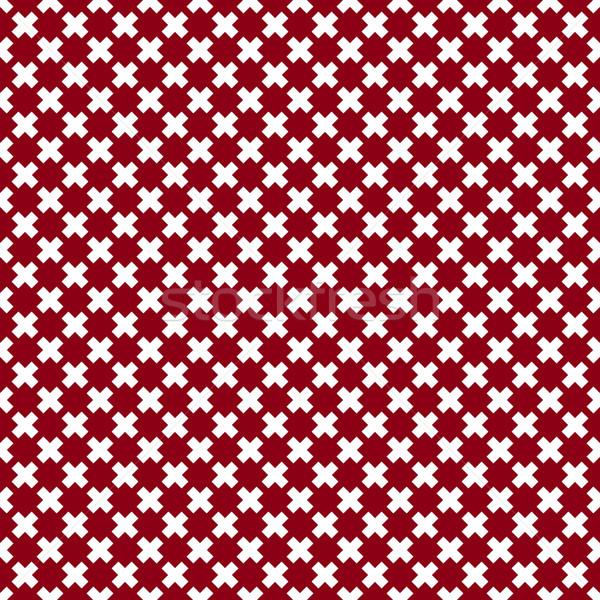 クロス 赤 白 異なる 交差 ストックフォト © kup1984