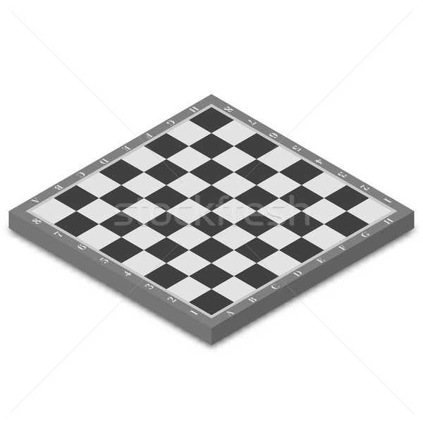 Tabuleiro de xadrez isométrica isolado branco 3D estilo Foto stock © kup1984